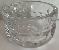 Goran Warff Signed Crystal Bowl Made In Sweden 5 In Long 3 In Tall