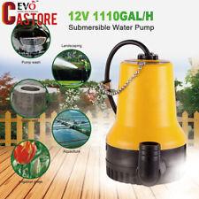 1110GAL/H Submersible Water Pump Clean Water Pond Flood Pump 12V