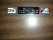 SEABISCUIT (HORSE RACING) ENGRAVED NAMEPLATE FOR PHOTO/DISPLAY