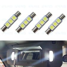 4 x White LED 6614F 6641 5050 LED Interior Fuse Visor Vanity Mirror Light Bulbs