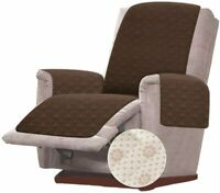 Anti-Slip Small Recliner Chair Cover for Leather Slipcover Protector Chocolate