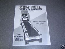 Electro Mechanical Skee Ball Machine Manual Skeeball. Copy of an Original.