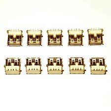 10x USB Type A Female Ports  -  PCB Through-hole