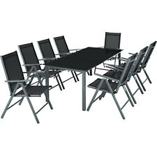 Alluminio set mobili da giardino 8+1 tavolo sedie pieghevole arredo esterno  nuo