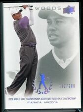 2013 Upper Deck Tiger Woods Master Collection 63 2008 Accenture Match 122/200