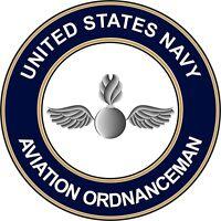 """Navy Aviation Ordnanceman AO 5.5"""" Die Cut Sticker 'Officially Licensed'"""