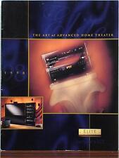 Pioneer ELITE HOME THEATER 1998 Katalog URUSHI DV-09, DVL-91, MJ-17D, PDR-99