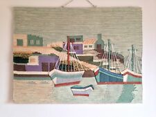Sage Green Designs Jute Tapestry Wall Hangings-4 boats