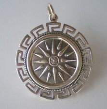 Meander Design - High Quality -Vergina Macedonian Star Coin X-Large Pendant with