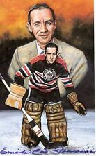 Emile Francis Autographed Hockey Legends Card HOFer