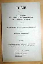 THESE-RENNARD DEAN-GISEMENT PETROLIER MER DU NORD,1967