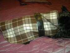 manteau ecossais marron chien dos 20/25 cmyork chiot