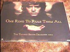 LORD OF RINGS FELLOWSHIP ADV BR QUAD MOVIE POSTER DS