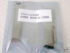 Cisco as5300 64mb DRAM Memory mem-64m-as53 (2x32mb)
