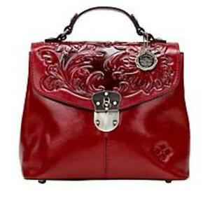 Patricia Nash Sinclair Leather Convertible Backpack NWT! Tooled Red Beautiful!!