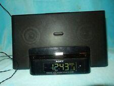 Sony iPhone iPod Clock Radio Speaker Dock ICF-CS15iP Dream Machine NO REMOTE