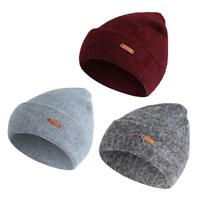 Men Women Unisex Cashmere Knit Hat Baggy Beanie Winter Warm Ski Hip Hop Bboy Cap