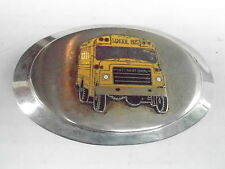 1970s VINTAGE BELT BUCKLE #15- 017 - INTERNATIONAL SCHOOL BUS
