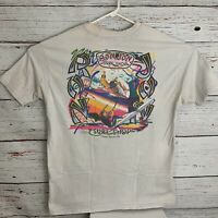 Ron Jon Surf Shop Mens sz XXL White Cocoa Beach FL Vtg Made in USA Single Stitch