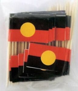 Aboriginal Flag Toothpicks - Aboriginal Celebrations/Party Toothpicks Pack of 50