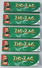 5 x Booklets King Size Zig Zag Cigarette Roll Up Green Rolling Papers  32 Leaves