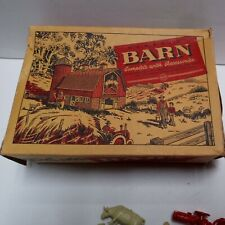 Marx # 3861 Barn Yellow Roof Red Sides Original Box And Accessories