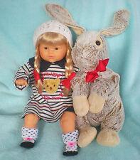 Corolle Puppe 52cm blond + großer Plüschhase + Katze+ viel Kleidung Poupee Doll