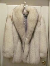 "BEAUTIFUL Natural Blue Fox Fur Stroller Coat 31"" Length Coat Shawl Collar"