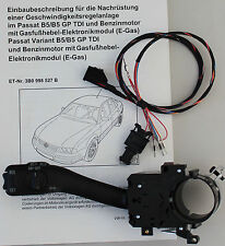 VW Passat B5 3B 3BG original cruise control Retrofit kit CruiseControl GRA