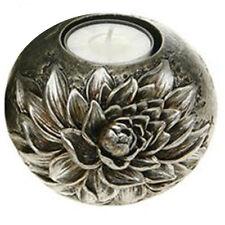 Candelabros y portavelas decorativos de cerámica color principal plata para el hogar