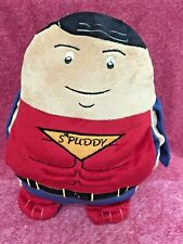 "Spuddy Superman Hero Heroes and Villains Cushion With Pockets 12"" Gadget Holder"