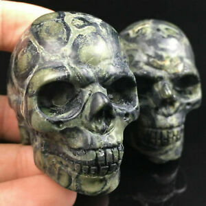 Jasper Quartz Crystal Skull Carved Skull Reiki Healing 1pc