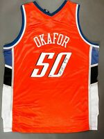 EMEKA OKAFOR Signed Autographed Basketball Charlotte Bobcats Jersey BAS COA