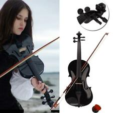 More details for 4/4 full size acoustic violin fiddle with case bow rosin bridge xmas gift