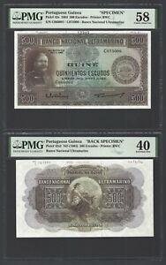 Portuguese Guinea 1964  500 Escudos P42s/P42s2 SPC/Back SPC About Unc/Ext. Fine