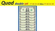 ~ Quad doubles SET ~~ = 77 00 55 00 thru 77 00 55 99