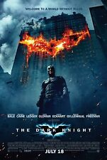 "THE DARK KNIGHT (2008) ORIGINAL MOVIE POSTER ""BUILDING ON FIRE"" VERSION  2-SIDED"