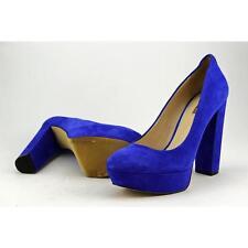 GUESS Padey Women US 8.5 Blue Platform Heel Pre Owned 3331