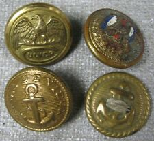 4 Vintage Buttons Eagle Culver Navy Canal De Vieux Anchor