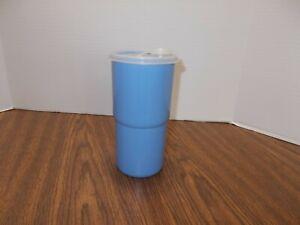 2414 Tupperware Thirstquake Tumbler 30oz  with Flip Top Lid Blue