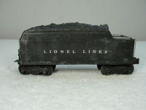 2466W Lionel Tender - Whistle Missing, Coil Coupler on Rear of Tender Works Nice