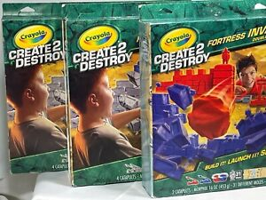 3 New Kits Crayola Create 2 Destroy Morphix Compound Ultimate Fortress Invasion