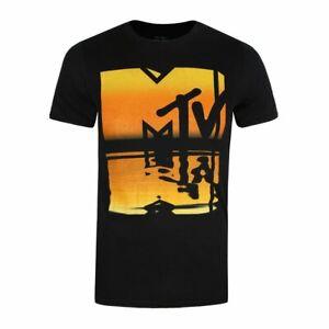MTV Summer Reflection Logo Men's Black T-Shirt
