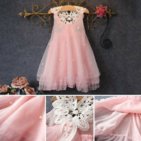Toddler Baby Girls Kid Flower Tutu Princess Dress Wedding Party Puffy Dress 2-7Y