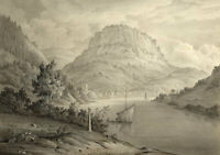 John Dugmore, Fortress of Königstein, Dresden – Early 19th-century watercolour