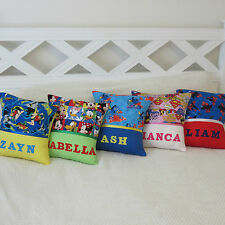 Childrens/Girls/Boys Personalised Name Character Cushion Covers - Gift Idea -