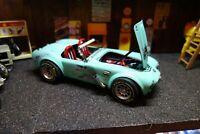 CUSTOM ONE - OFF Ford Shelby Cobra majorette rat racer modified  1/18 diecast