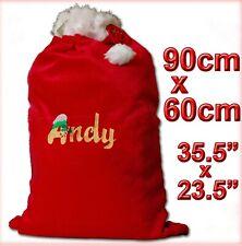 Large Personalised Embroidered Plush Christmas Sack/Stocking