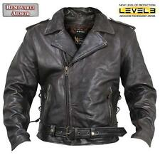 Xelement XS-589 Mens Armored Distressed Leather Classic Biker Jacket size L