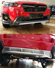 Front+Rear Bumper Protector Cover trim For 2018 Subaru XV Stainless Steel SET